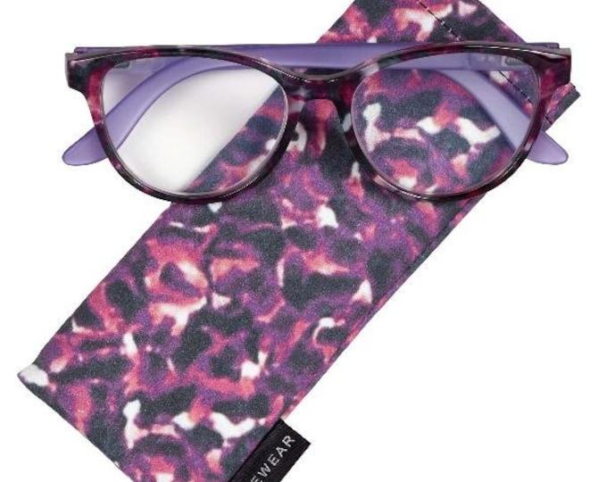 Gardena Purple Reading Glasses Magnifier, Reader +1.50 I Heart Eyewear