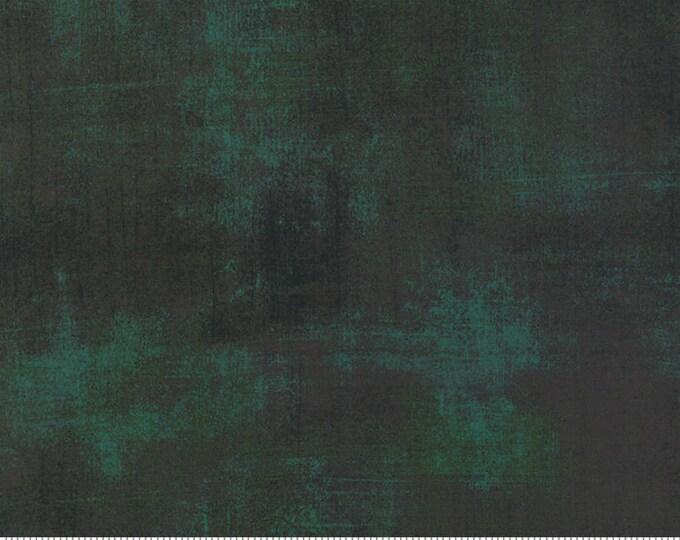 Moda Basic Grey Grunge Christmas Green  30150-308 44-inch Wide Cotton Fabric Yardage