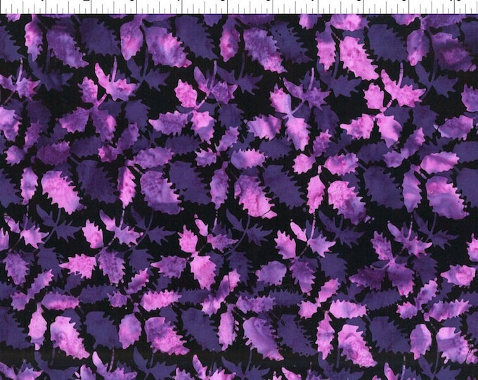 """Floragraphix Batiks 4 Leaves by  In The Beginning Fabrics 2GBD-3   44"""" wide 100% Cotton Fabric"""