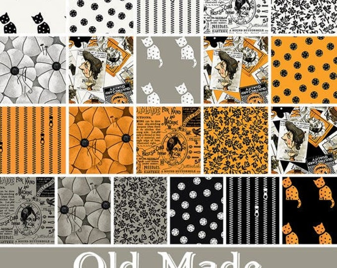 """Old Made 10"""" Stacker from J. Wecker Frisch for Riley Blake Designs  - 42  10"""" squares 100% cotton"""