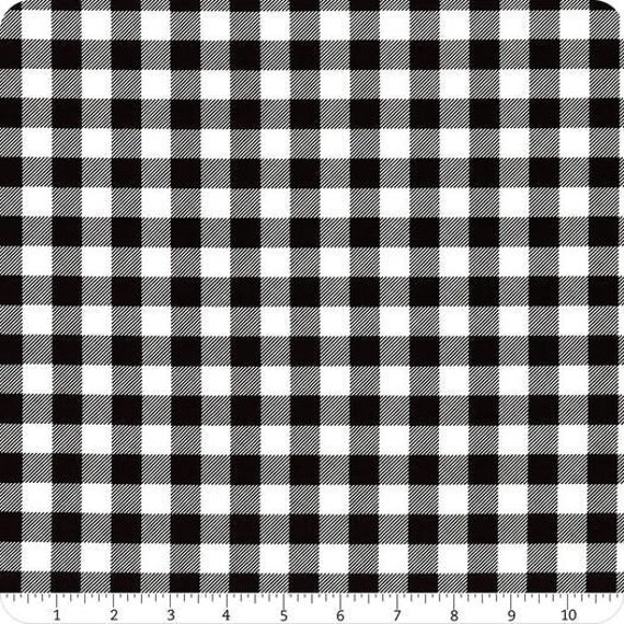 """FLANNEL Black and White Plaid by Henry Glass 9270-9      44"""" wide 100% Cotton Fabric"""