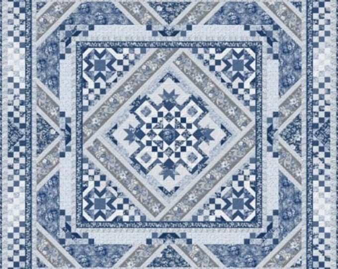"""Courtyard BOM Full Quilt Kit  87"""" Square - 100% cotton Kit includes pattern and fabrics for top only."""