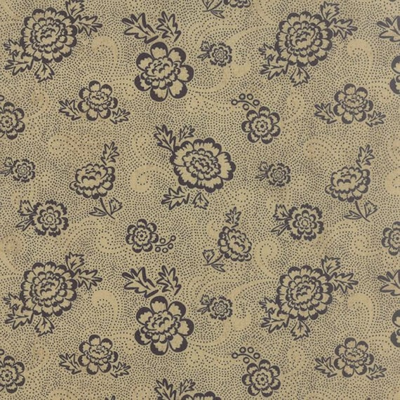 Black Tie Affair by Basic Grey 30424-14 Floral Whimsy Floral Tan Moda 100% Cotton Fabric