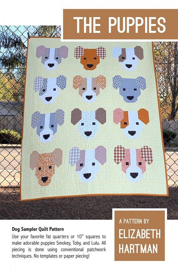 Elizabeth Hartman The Puppies - Dog Sampler Quilt Pattern Only