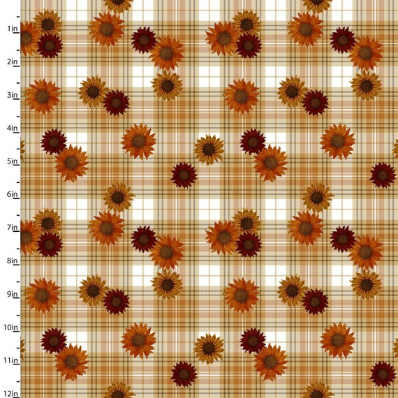 """Harvest Campers by Beth Albert  -Plaid-   3 Wishes   44"""" wide 100% Cotton Fabric"""
