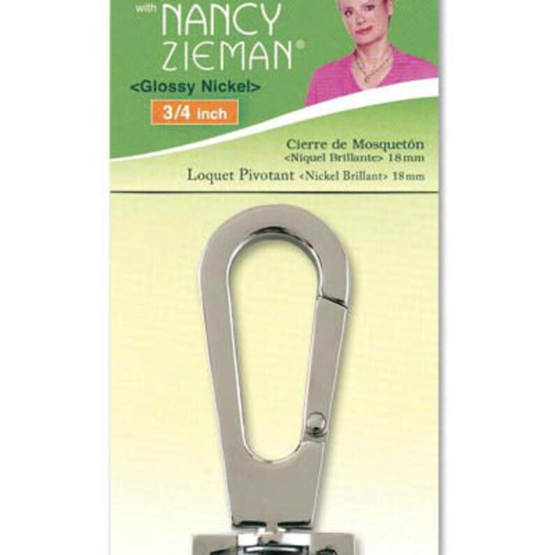 Clover Swivel Latch Gloss Nickel  9544 34 inch Nancy Zieman