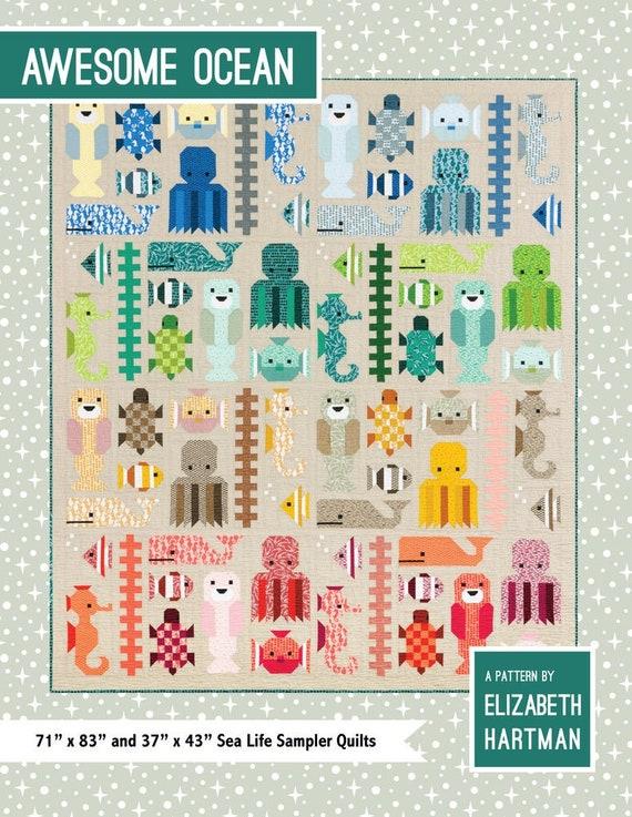 Elizabeth Hartman's Awesome Ocean Sampler Pattern Only