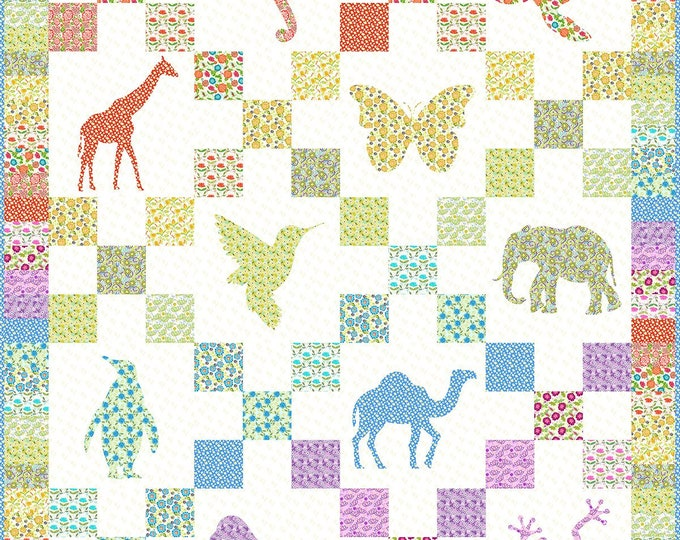 Petit Jardin Quilt for In The Beginning Fabrics- Piecing and Applique JHR-Q - Pattern Only