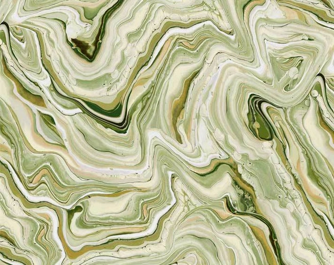 "Fluidity Green Flui 4135 g P&B Textiles 44"" Wide"