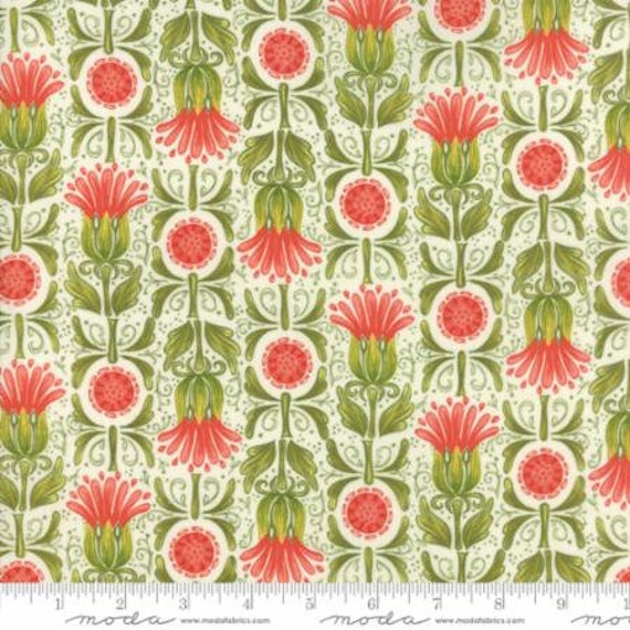 """Dear Mum Floral Busy Flowers White by Robin Pickens 44"""" wide 100% Cotton Fabric"""