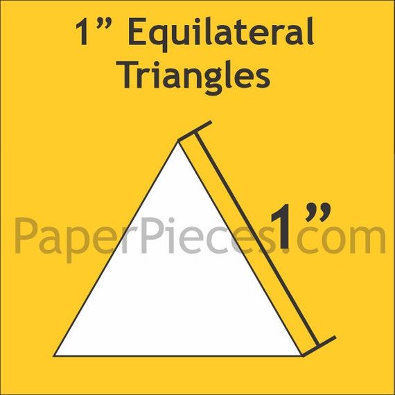 "Paper Pieces 1"" Equilateral Triangle 100 Pieces TRI100"