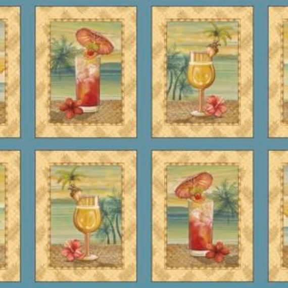 """Quilting Treasures - Paradise Delights  Picture Patches 24"""" 1649-24371-B 100% cotton (#22)"""