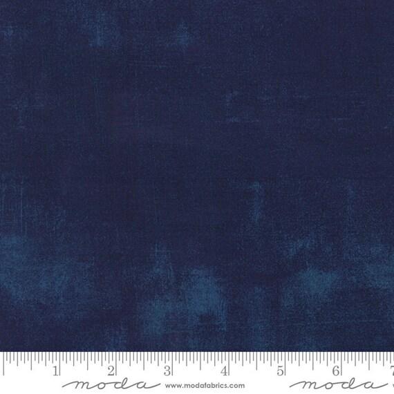 Moda Basic Grey Grunge Navy 30150-225 44-inch Wide Cotton Fabric Yardage