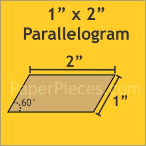 """Paper Pieces 1"""" x 2"""" Parallelogram 90 Pieces 60PAR100X200"""