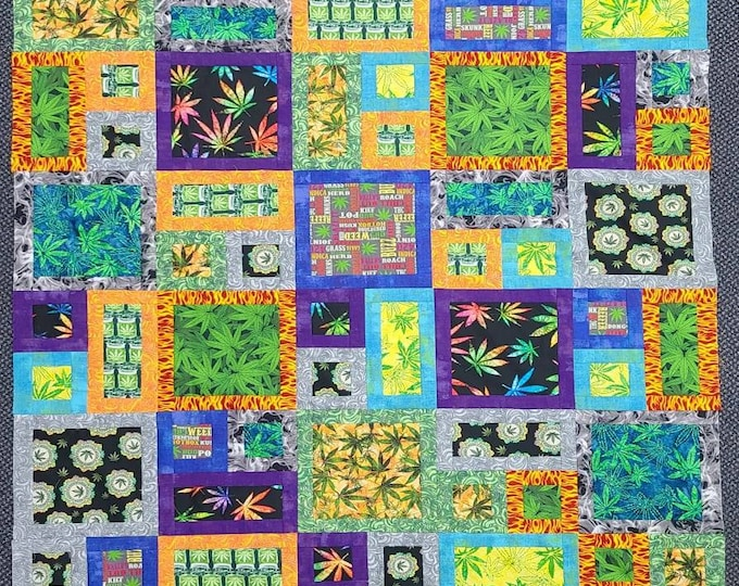 """All About Pot Kit Featuring All About Me pattern from Atkinson Designs. Lap size 55"""" x 66"""" No Binding!"""