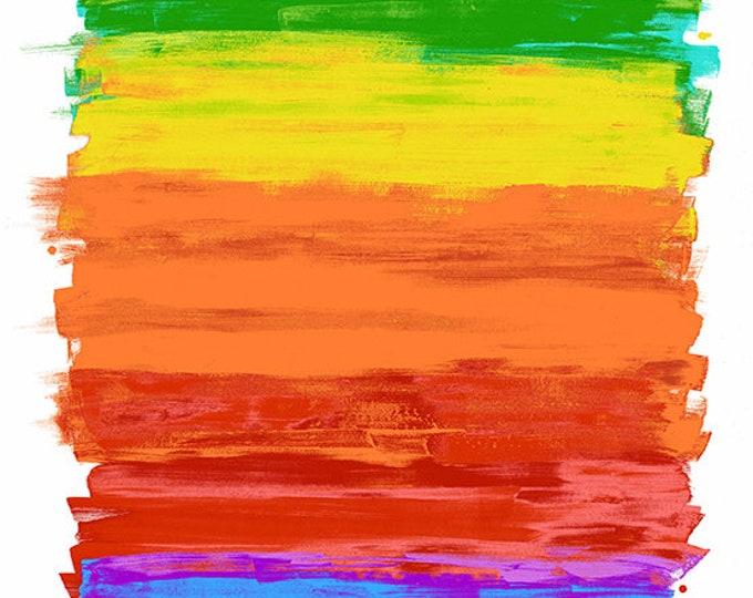 "Paint Art Panel  - Multi color - by Andover Fabrics 40"" x 45"" 100% cotton (#22)"