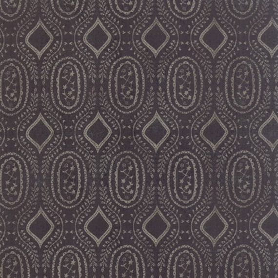 Black Tie Affair by Basic Grey 30426-18 Floral Woven Vine Black Moda 100% Cotton Fabric