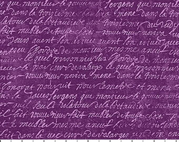 "Wicked Purple Script Northcott 100% Cotton 44/45"" Wide Fabrics"