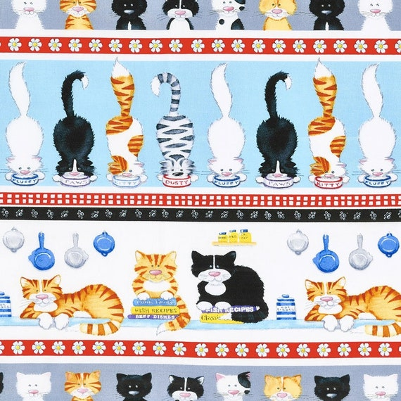 The Cat's Meow Stripe by Henry Glass Co.  44-inch Wide Cotton Fabric Yardage 100% cotton