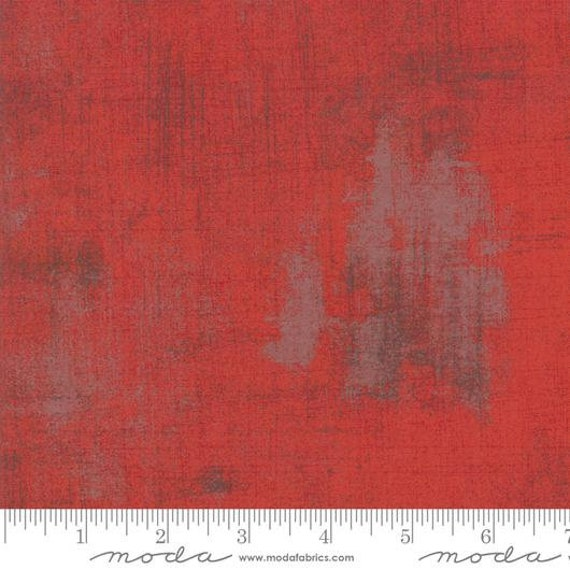 Moda Basic Grey Grunge Red 30150-151 44-inch Wide Cotton Fabric Yardage