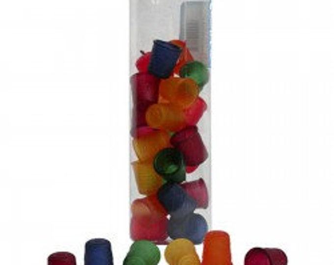 Dill Buttons - Jelly Fingers Thimbles Small Assorted Colors