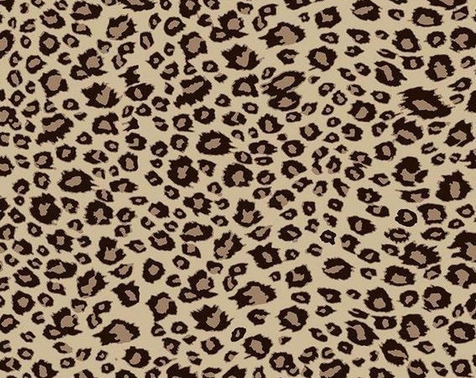 "On Safari Leopard Brown by Riley Blake  C10457  100% Cotton 44/45"" Wide Fabrics"