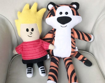 Calvin and Hobbes inspired Dolls