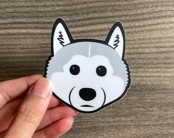 Husky Puppy Dog Sticker, Malamute Puppy Sticker