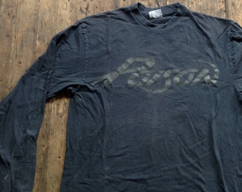 Vintage 1980s Poison Open up and say Ahh! long sleeve black shirt
