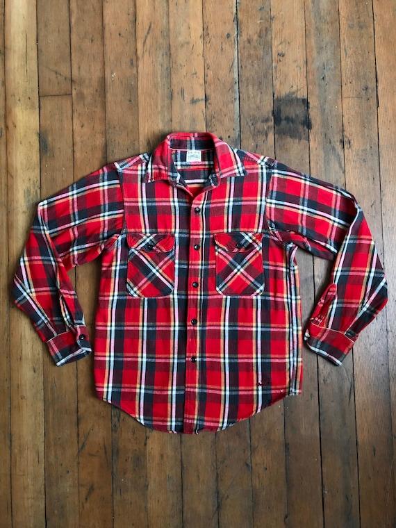 vintage 1950s Polar flannel plaid shirt