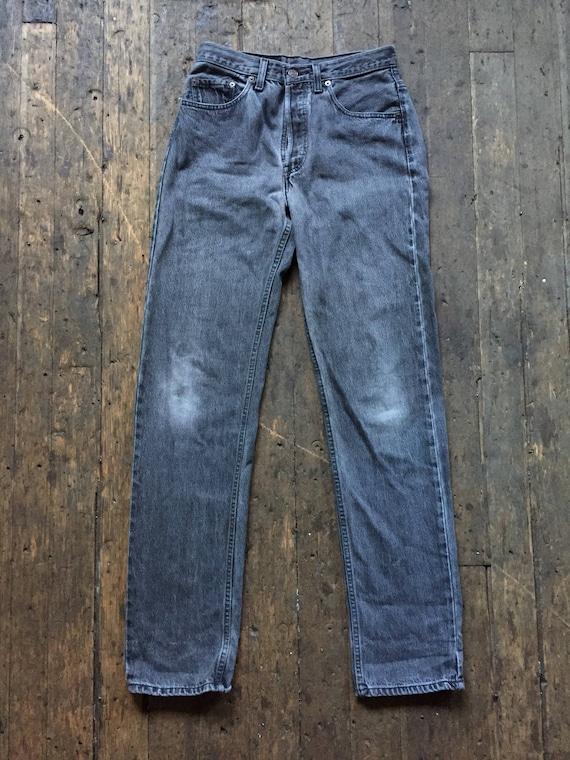 1980s vintage black levis 501 jeans