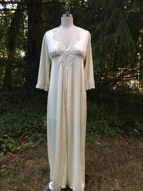1960's Champagne Goddess Peignoir Robe - medium - image 2