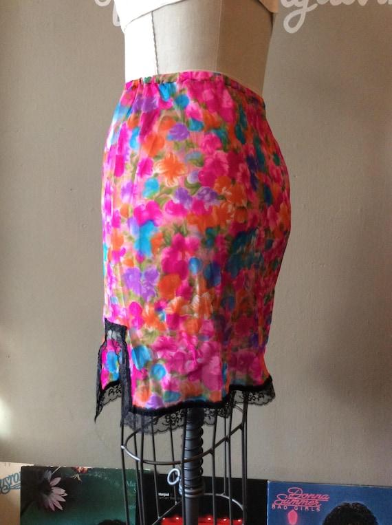 1960s Watercolor Mini Skirt Slip - small / medium