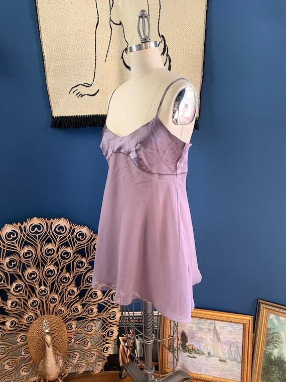 1990s Lavender Chiffon Babydoll . Victoria's Secr… - image 2