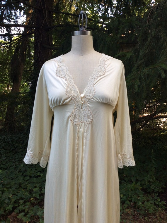 1960's Champagne Goddess Peignoir Robe - medium - image 1