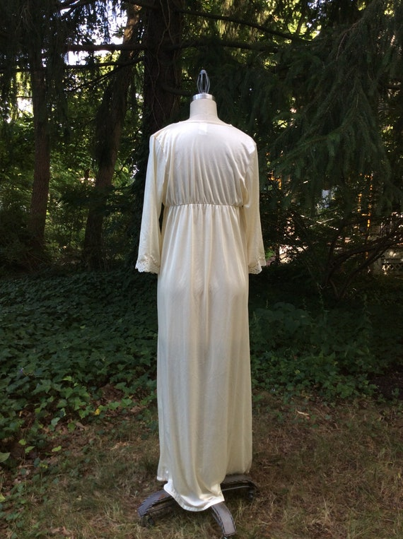 1960's Champagne Goddess Peignoir Robe - medium - image 4