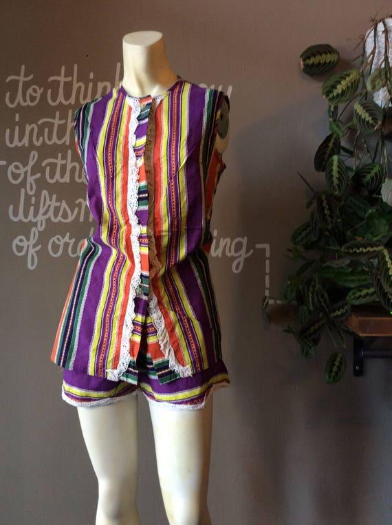 1960's Beach Pajamas . Tommie's . - medium