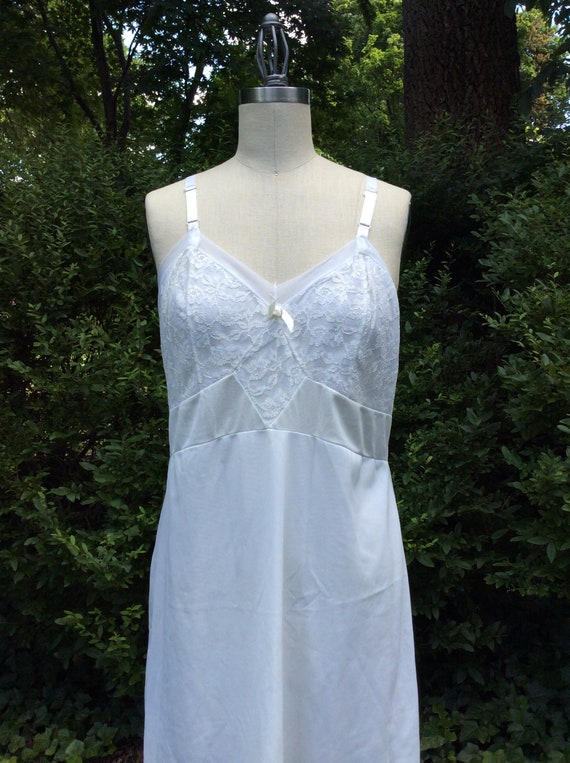 6fb758ac5 1960s Ivory Volup Slip Dress   60s White Beige XL Nightie