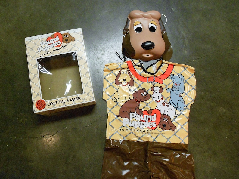 Vintage Halloween Costumes In A Box.Vintage 1986 Pound Puppies Ben Cooper Kid S Halloween Costume And Mask In Box