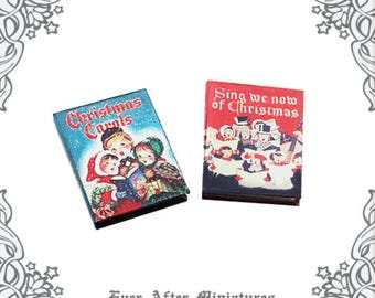photo about Christmas Carol Songbook Printable titled Xmas CAROLS New music Sheet Dollhouse Miniature E-book 1:12