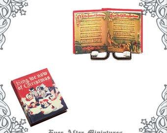 image regarding Christmas Carol Songbook Printable named Xmas CAROLS Tunes Sheet Dollhouse Miniature Guide 1:12