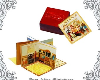 Santa Claus Pop Up Miniature Book 1 12 Diy Dollhouse Etsy