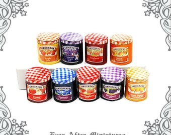 Can of Delicious Elderberries Dollhouse Miniature 1:12 Scale Kitchen Accessory