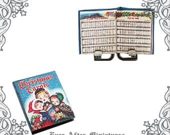 graphic relating to Christmas Carol Songbook Printable identified as Xmas CAROLS New music Sheet Dollhouse Miniature Reserve 1:12