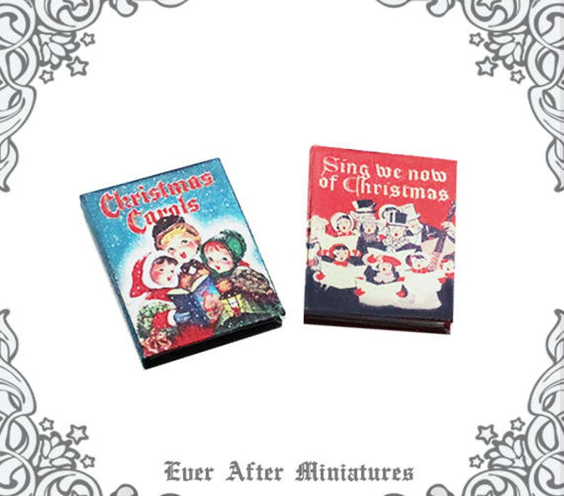 image about Printable Christmas Carols Booklet called 2 Xmas CAROLS Dollhouse Miniature Guide 1:12 Xmas Songs Reserve Sheet Songs E book - Printable Miniature Xmas Tune Ebook Obtain