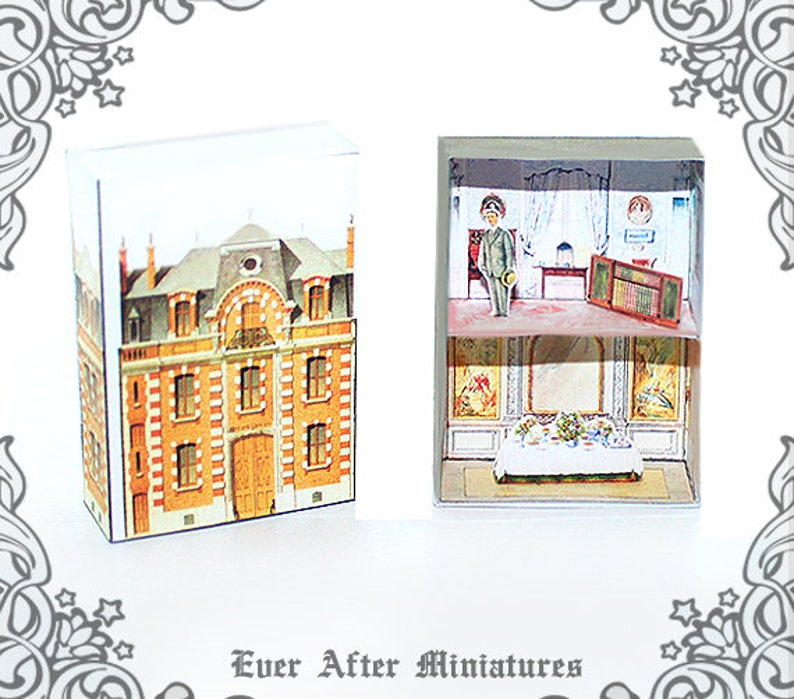 Incredible Antique Matchbox Dollhouse Kit 2 Diy Printable Victorian Dollhouse Miniature Doll House In A Match Box Antique Dollhouse Kit Download Interior Design Ideas Tzicisoteloinfo