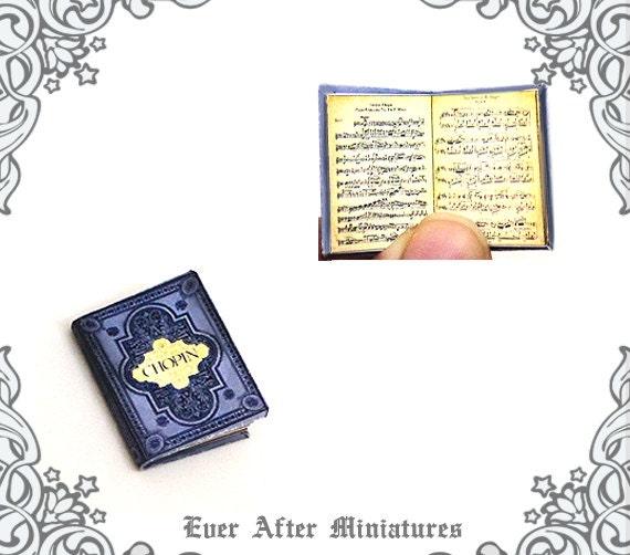 DOLLHOUSE 1:12 5 Classical Composers//Books Miniature Set of Music Books
