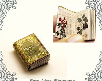 Plants Dollhouse Miniature Book – 12th Scale OPENABLE Herbology Miniature Book - Dollhouse Miniature Encyclopedia - Printable DOWNLOAD