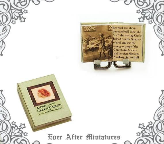 Anne Of Green Gables Dollhouse Miniature Book Vol 1 1:12