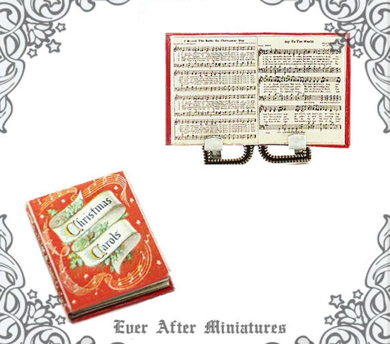 photo relating to Printable Christmas Carols Booklet called Xmas CAROLS Songs Sheet Dollhouse Miniature Ebook 1:12 Xmas Carols Miniature Ebook Xmas Music Miniature E book Printable Obtain